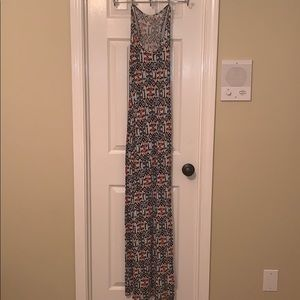 White, Red, Blue and Black Patterned Sundress